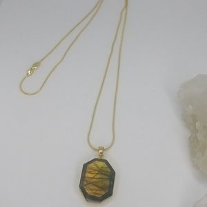 """Crooked Path"" Labradorite Necklace"